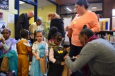 Trick or treating the halls of the Northeast Community Center